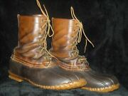 Vtg 40s 12 Ll Bean Mens Leather Rubber Duck Hunting Winter Shoe Laced Boots