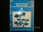 Rockwell 160 And 161 Series Drive Axles Single And Tandem Axles Parts Book Oem