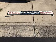 """Old Pabst Blue Ribbon Pbr Beer Wood Advertising Sign -large 109"""" Long-"""