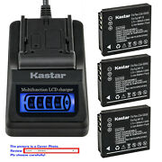 Kastar Battery Lcd Quick Charger For Leica Bp-dc4 And D-lux1 D-lux2 D-lux3 D-lux4