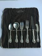 Antique Reed And Barton Burgundy Sterling Silver 6 Pc Place Setting New