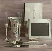 Vera Wang Love Knots Set Flutes Cake Knife Ice Bucket Guest Book Picture Frame