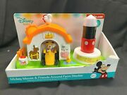 Disney Kiddieland Toys Animated Mickey Mouse And Friends Animal Farm And Tractor New