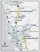 San Diego California Map Glossy Poster Picture Photo Banner Print Road City 5863
