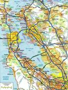 San Francisco California Map Glossy Poster Picture Photo Banner Print Road 5864