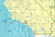 Southern California Map Glossy Poster Picture Photo Banner Print Road Area 5866