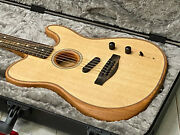 Fender Acoustasonic Telecaster Tele Natural Open Box New Cond Unplayed W/ Case