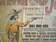 Rare Yellow Kid New York Journal Advertising Comic Paper Colt Wild West