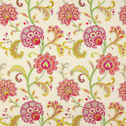 Manuel Canovassona Floral Woven/embroidered Upholstery Fabric 10 Yards Epice