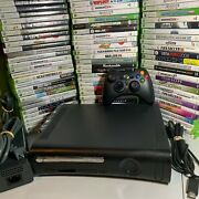 Xbox 360 Elite Black Console Bundle Controller Cable Hdd 5 Video Games Microsoft