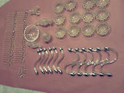 95pc Large Lot Of Antique Chandelier,bowls, Center Glass And Prisms Crystals Parts