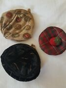Antique Small Coin Sovereign Purses X 3 French