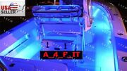 Led 4pc Boat Interior Marine Deck Lights Full Color Changing Neon Accent Pod Kit