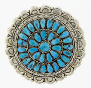 Rare Natural Sleeping Beauty Turquoise Cluster Pin By Justina Wilson