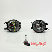 Pair Of Front Bumper Driving Lights Fog Lamp For Toyota Car Bulbh11-12v-55w