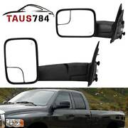 Power Tow Driver Side Mirror Heated For 03-09 2500 3500 02-08 Dodge Ram 1500