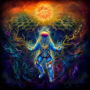 Trippy Backdrop Psychedelic Tapestry Art Spiritual Painting Wall Hanging Hippie