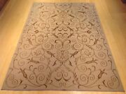 Hand-knotted Fine Modern Wool And Silk Tone On Tone Rug 8.0 X 10.0 Brral-5856