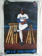 Pedro Guerrero Blue Thunder Nike Poster Vintage New Los Angeles Dodgers 24x36