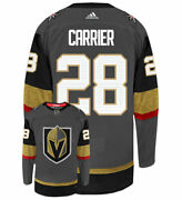 William Carrier Vegas Golden Knights Adidas Authentic Home Nhl Hockey Jersey