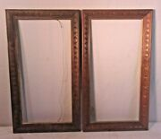 Pair Vintage Carved Pine Frames 15 1/2 X 27 1/2 Holds 11 3/4 X 24 Molding 2.