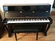 Black Lacquer Samick Upright Piano W / Matching Bench / Slightly Used /1 Owner