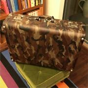 Prada Briefcase Travel Case Camouflage Military Inside Two Pockets Dial Lock