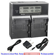 Kastar Fully Decoded Battery Lcd Charger For Canon Bp-a30 Bp-a60 Bp-a65 Bp-a90