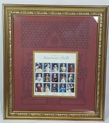 Usps Classic American Dolls Postage Stamps Sheet Matted Framed 17.5 X 15.5
