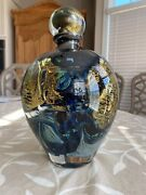 Jean Claude Novaro Glass - Hand Blown Signed Glass Vase - One Of A Kindandnbsp