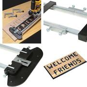 Complete Sign Making Router Jig Template Kit Bits Bushings Tool D I Y Art Craft