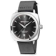 Briston 19640.ps.i.11.ng Clubmaster Iconic Grey Strap Automatic Wristwatch