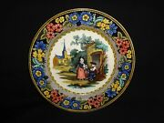 Marked Antique 19th.c Salopian Soft Paste China Man, Woman And Child Plate, J
