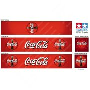 Tamiya 14th Scale 56302 Reefer Box Trailer Bottles Coca-cola Roof Decals 2-axle
