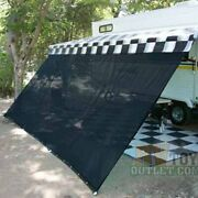 Rv Awning Complete Kit 10 16 Or 18 Feet Sun Shade Canopy Screen Privacy Black
