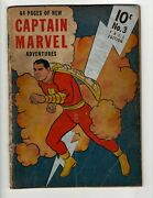 Captain Marvel Adventures 3 Gd Fawcett Golden Age Comic Book Shazam Beck Ne4