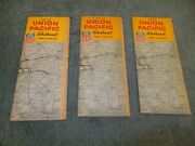 Lot Of 3 Union Pacific Railroad Time Table Booklets - 1964 1969 And 1970