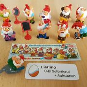 Top Kinder Surprise Set - Gnomes Drwafs In The Bathroom 1991 - Great Condition