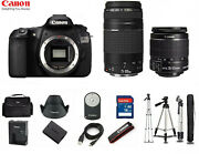 Canon Eos 60d Digital Camera 18.0 Mp Slr With 18-55mm And 75-300mm Lens Bundle