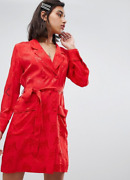Fabienne Chapot Ami Dress In Tiger Jacquard In Red Size M