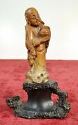 Chinese God. Sculpture. Carved Soap Stone . China. Principle Xix Century