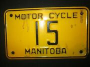 Rare Vintage Front License 1964 Manitoba Canada Motorcycle Licence Plate