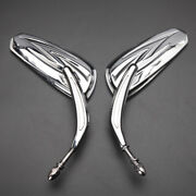 For Harley Davidson Breakout Cvo Pro Street Motorcycle Rear View Mirrors Chrome
