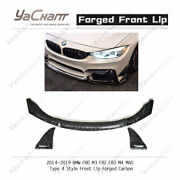 Forged Carbon Splitter For 14-19 Bmw F80 M3 F82 F83 M4 Mad Type4 Front Lip
