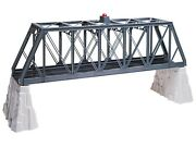 O-gauge - Lionel - Truss Bridge With Flasher And Piers