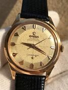 Omega Watch Constellation Pie Pan Automatic Cal.505 Solid Gold18k Mens 34.5mm