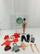 Vintage Mattel Barbie Black Hair With Clothes And Accessories