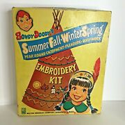 Howdy Doody's Embroidery Kit Sewing Cards Seasons Vintage Toys Milton Bradley