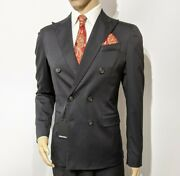 Bnwt Dsquared2 Napoli Hand Made Slim Mens Suit Stretch Uk 38r W32 L29.5 Rrpandpound1430