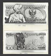 Indonesia Face And Back 1000 Rupiah11-9-1969 Pick Unlisted Photograph Proof Unc